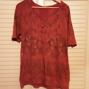 Orange top from Maurices with hoodie. Size 2